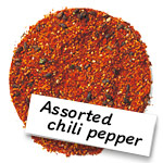 Assorted chilli pepper